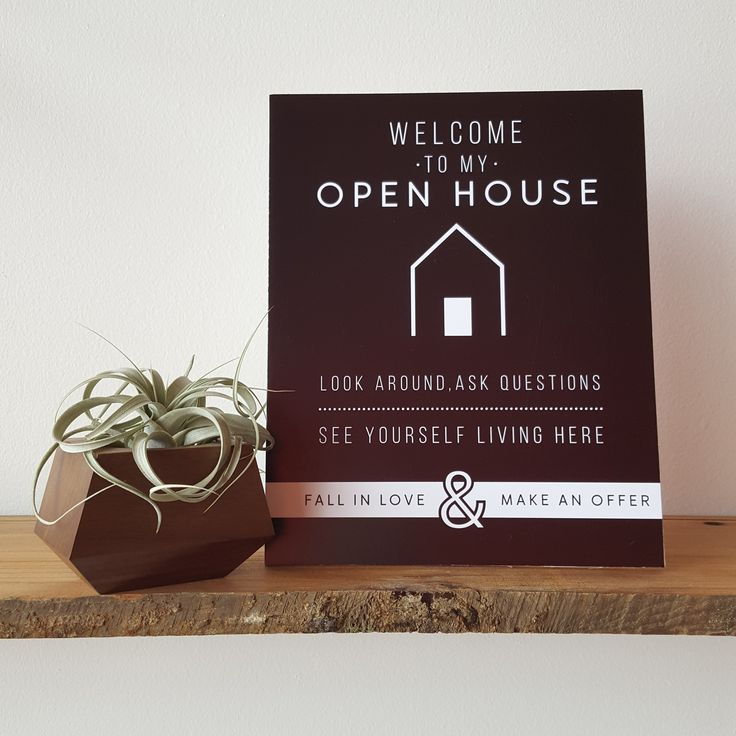 Use the Welcome Sign to greet your guests at your Open Houses. It's a great way…