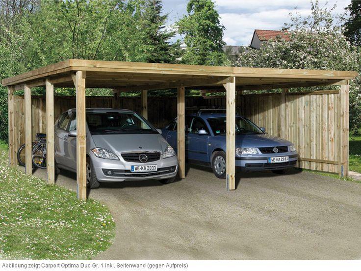 WEKA Optima Duo Gr. 1 Carport 12 x 12 cm starke Pfosten