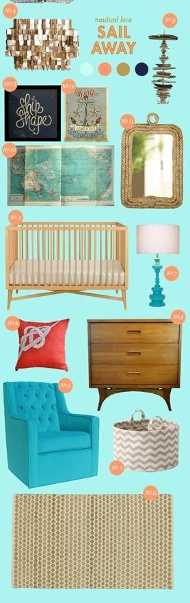 nautical baby room= love.