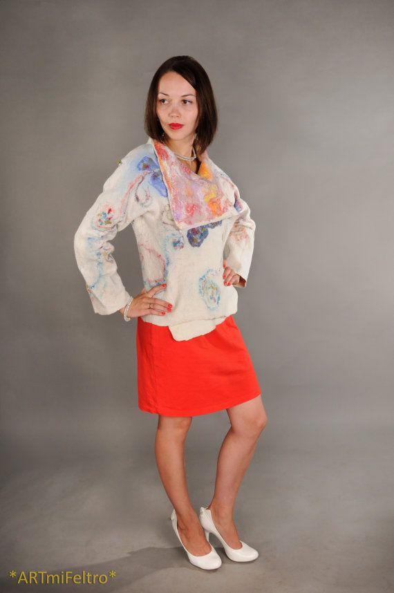 Felted jacket felt jacket womens clothing felted by ARTmiFeltro
