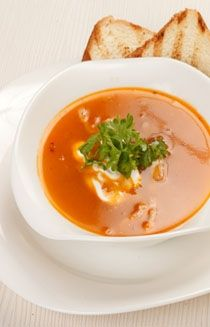 Anjum Anand's anglo-Indian tomato soup with  hot toasted bread has a burst of flavour