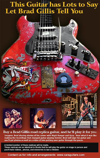 Brad Gillis - Night-Ranger - Ozzy - Red Fender | Reverb