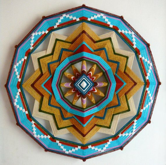 All One in stock 24 inch Ojo de Dios mandala by JaysMandalas, $240.00