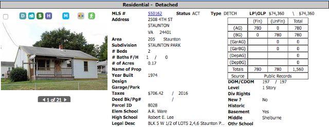 Homes for Sale Shenandoah Valley Virginia: Homes under $75K for sale in Staunton, VA!