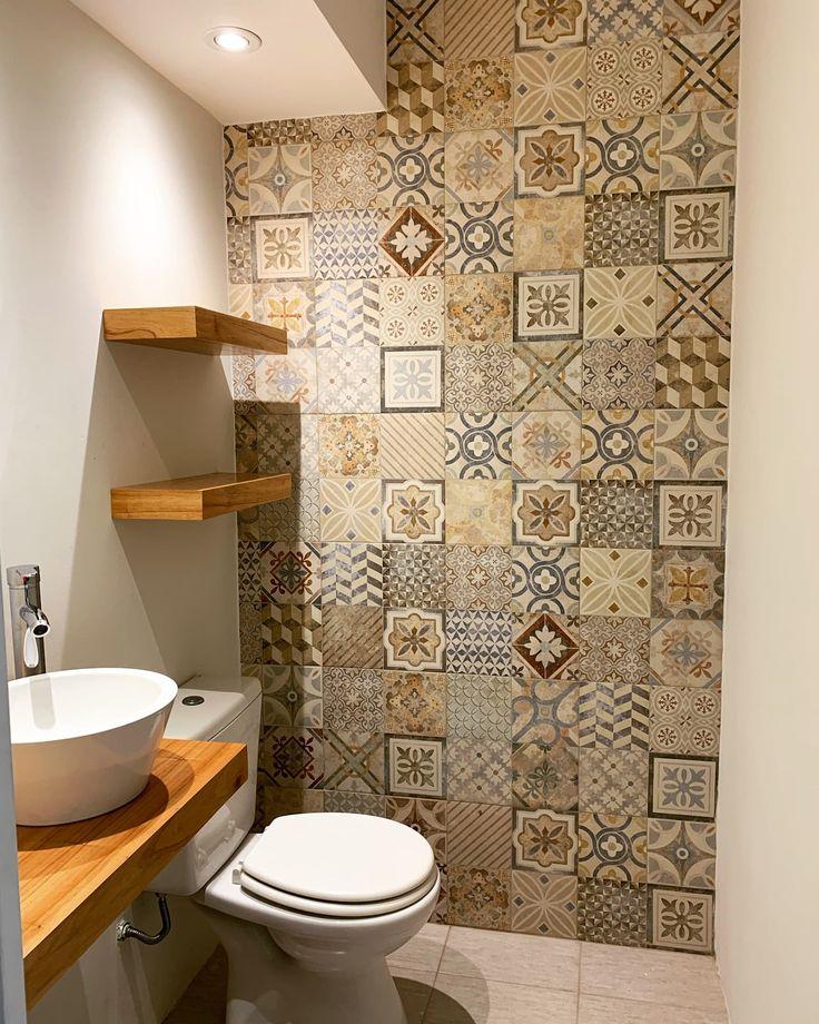 Space Saving Bathroom, Small Bathroom Layout, Laundry Room Bathroom, Downstairs Bathroom, Small Toilet Room, Guest Toilet, Bathroom Wallpaper Trends, Bathroom Interior Design, Beautiful Bathrooms