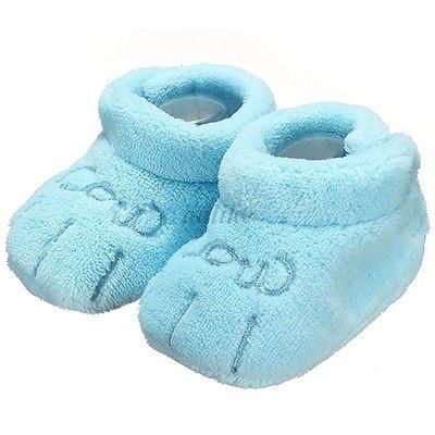 Chaussons Chaussures Semelle Souple Antidérapant Bébé Fille Garçon 0-12 Mois