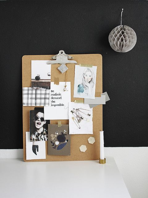 clipboard mood board DIY by AMM blog,  Go To www.likegossip.com to get more Gossip News!