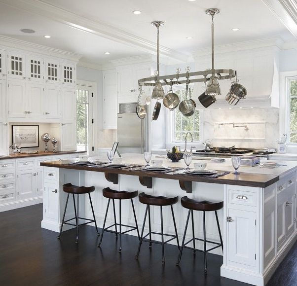 """wood counter top, but not butcher block...better for serving, and not having """"helpers"""" chop veggies."""