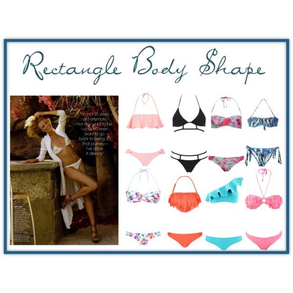"""""""Rectangle Body Shape Bikini"""" by lorraine-andrade-marques on Polyvore"""