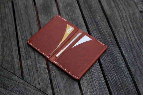 Leather Wallet Card holder (hand stitched) $60