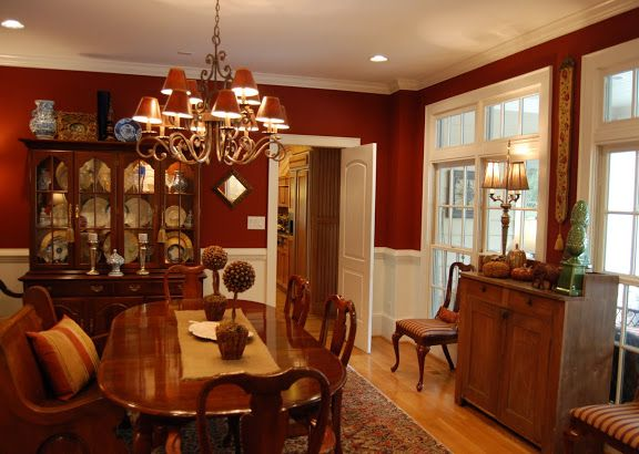 Roycroft copper red by sherwin williams paint color love for Red dining room designs