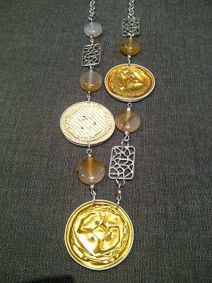 eco necklace with gold nespresso capsules