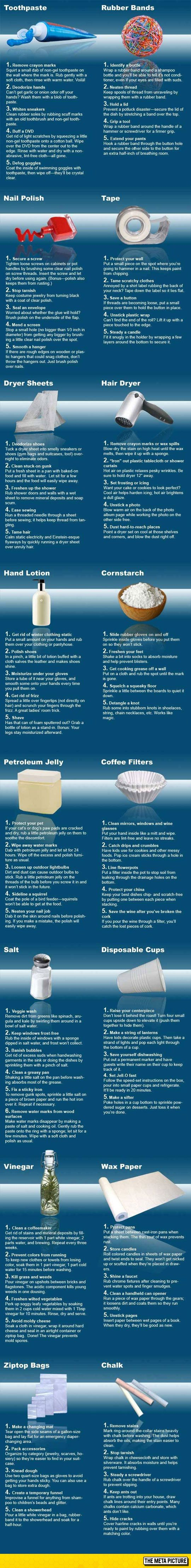 Awesome Uses For Everyday Items