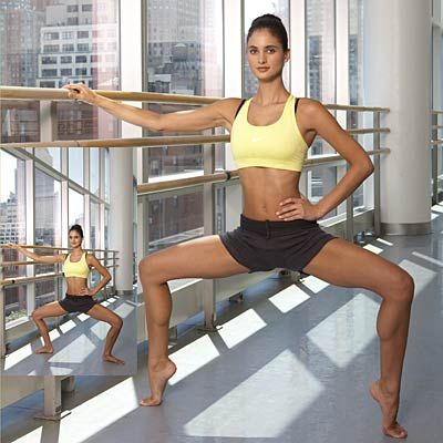 Get slim and trim with this 30-minute Ballet routine. You don't have to be a dancer to burn fat and calories! | http://www.health.com/health/gallery/0,,20532644_6,00.html