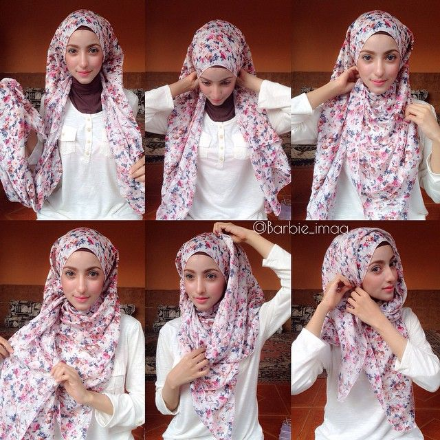I love this cute and beautiful hijab look, so suitable for young girls and young students, it's so simple and easy to create. It looks comfy and well secured, besides being stylish for everyday style. Enjoy the steps to this lovely…