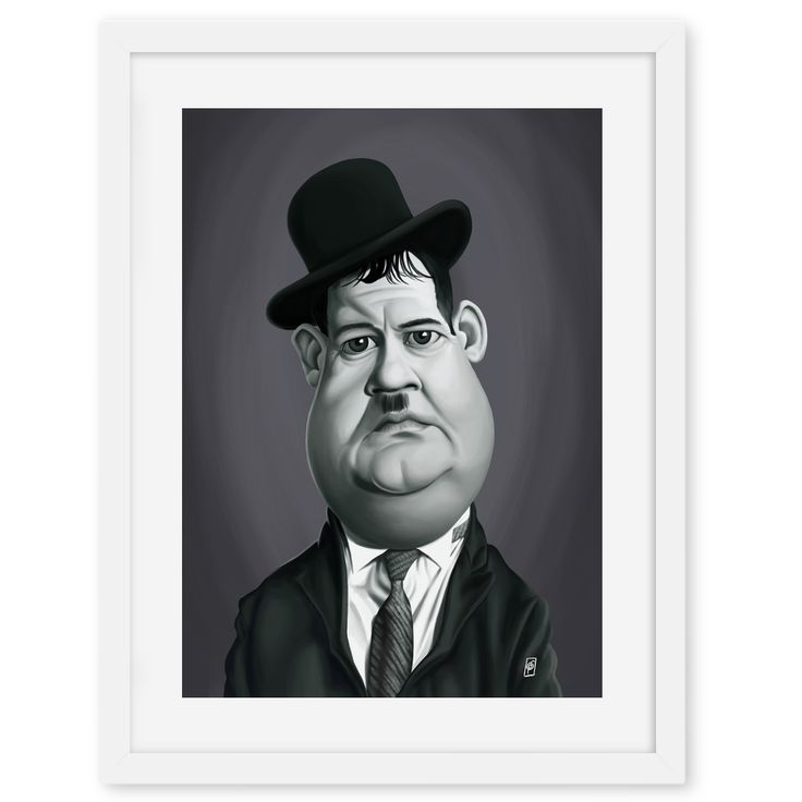 Oliver Hardy art | decor | wall art | inspiration | caricatures | home decor | idea | humor | gifts