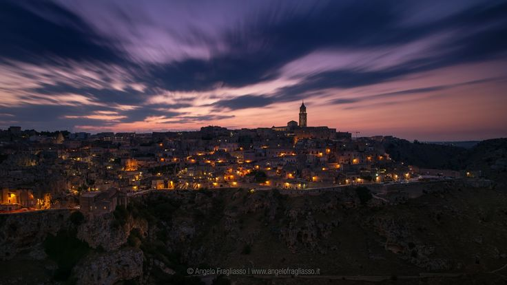 """Matera, cityscape - Cityscape of Matera """"Città dei Sassi"""". Italy - Basilicata"""