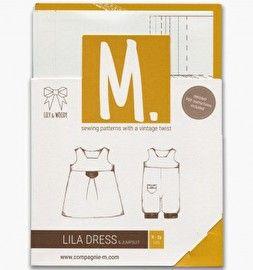 Patroon - Lila jurk voor kleine meisjes (en jongens)