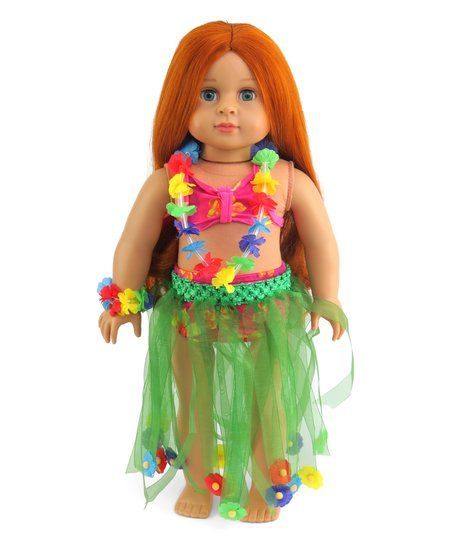 American Fashion World Luau Outfit for 18 Doll | zulily