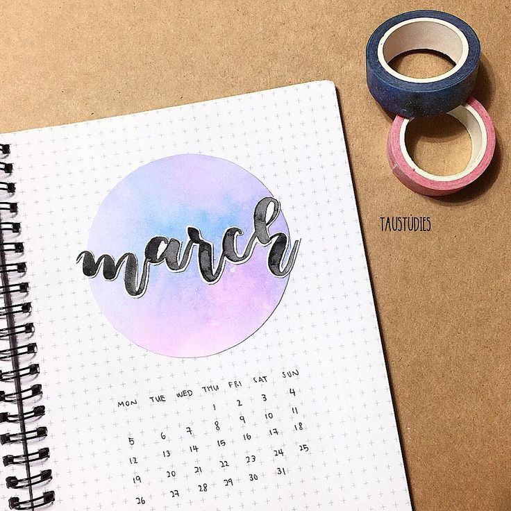 """luna · bujo · notes az Instagramon: """"[ m a r c h ] — • — is today the last day of february what on earth i survived 1/6 of 2018 already — • — (edit) this is 100% inspired by…"""""""