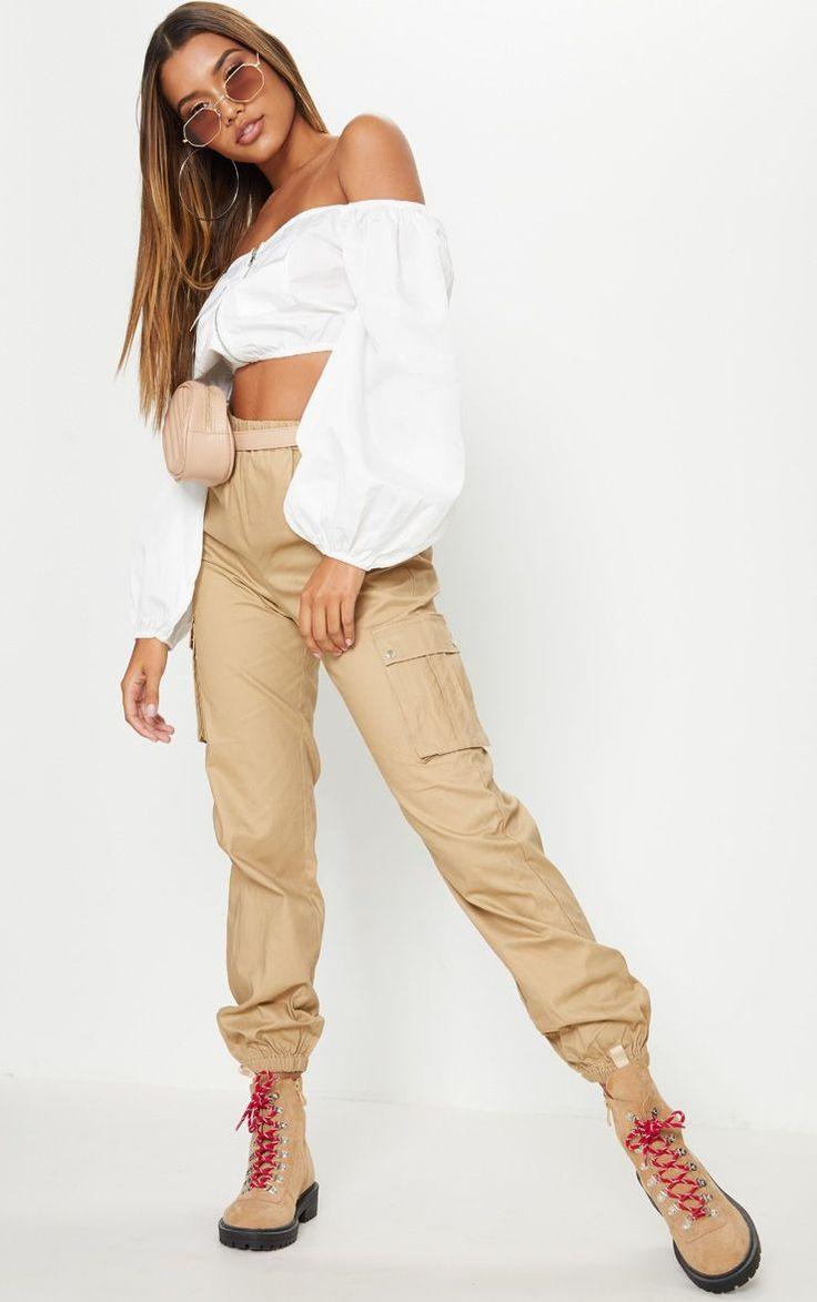 Stone Pocket Detail Cargo Pants