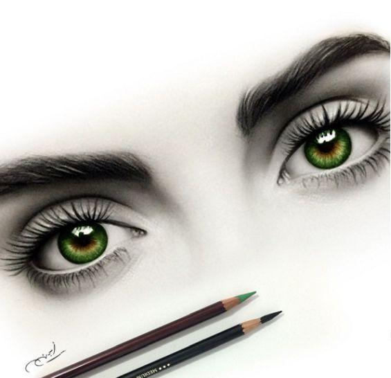 правильно нанести картинки с зелеными глазами с карандашом таксы той терьера