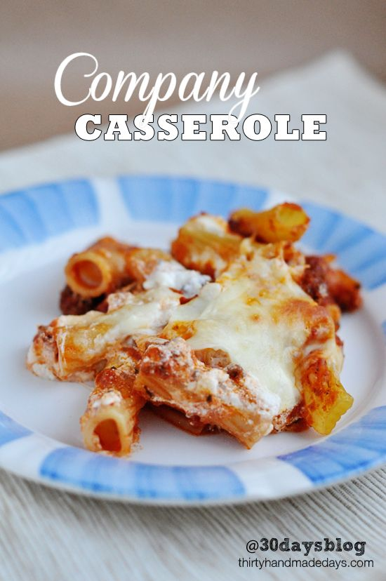One of our family's favorite main dishes- company casserole.