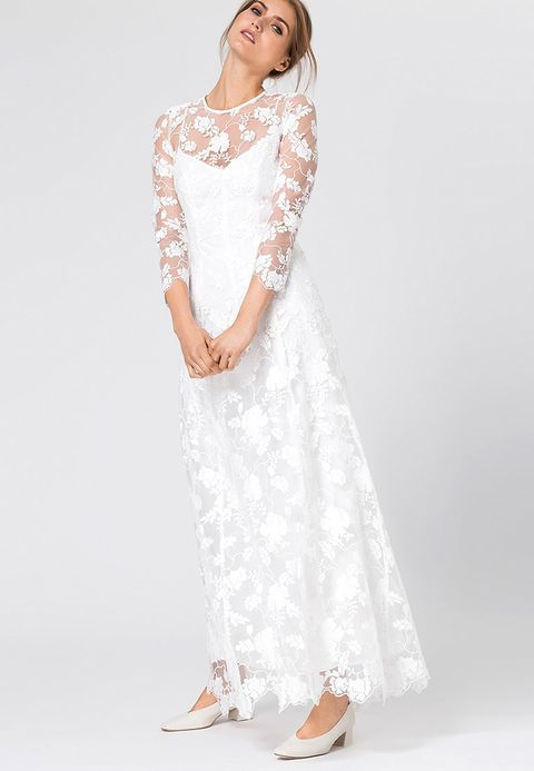 b4452c7002c9 IVY   OAK EMBROIDERED EVENING DRESS - Ballkleid - snow white - Zalando.de