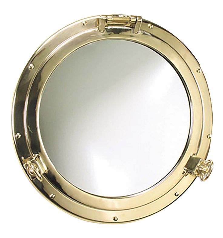 Buy Solid Brass Porthole Mirror by Shiplights - Quick Ship designer Accessories from Dering Hall's collection of Contemporary Industrial Traditional Art Deco Mirrors.