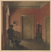 Der rote Raum by Peter Vilhelm Ilsted