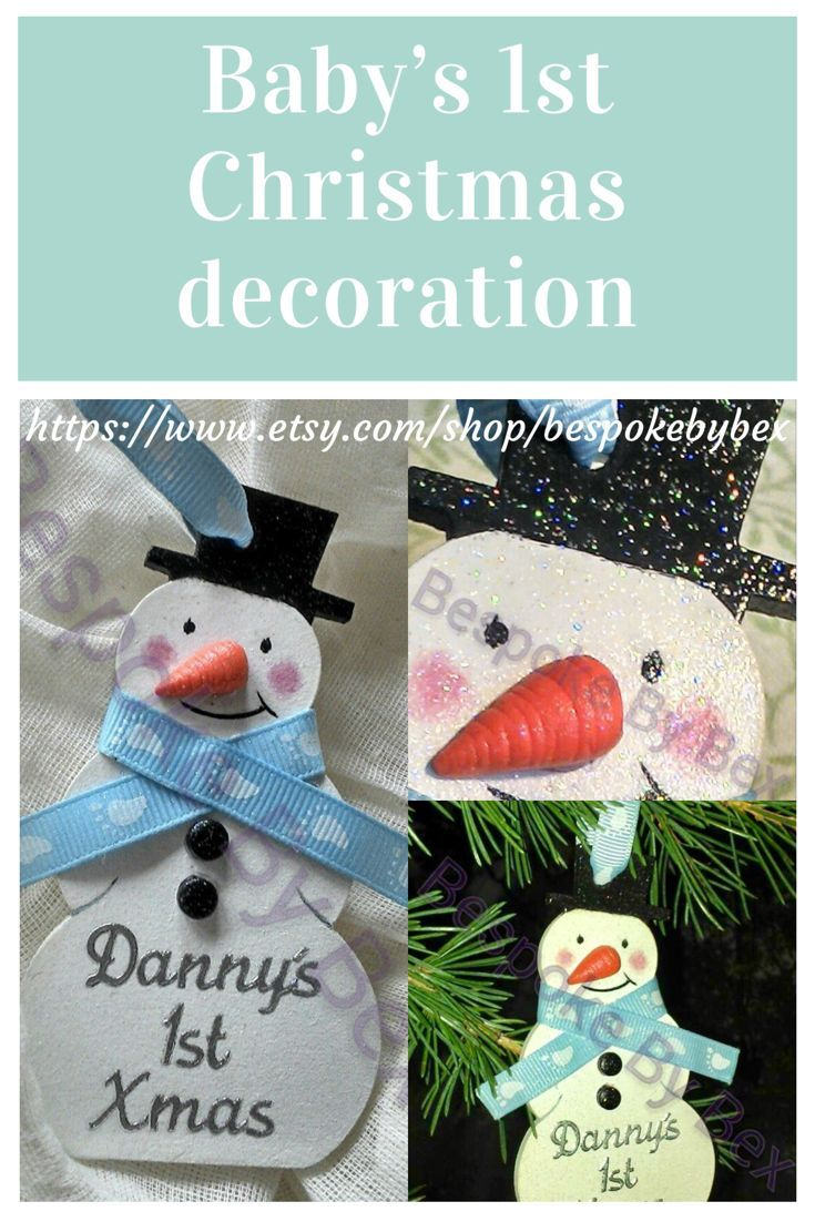 Personalised My 1st christmas bauble: snowman, Special 1st christmas ...