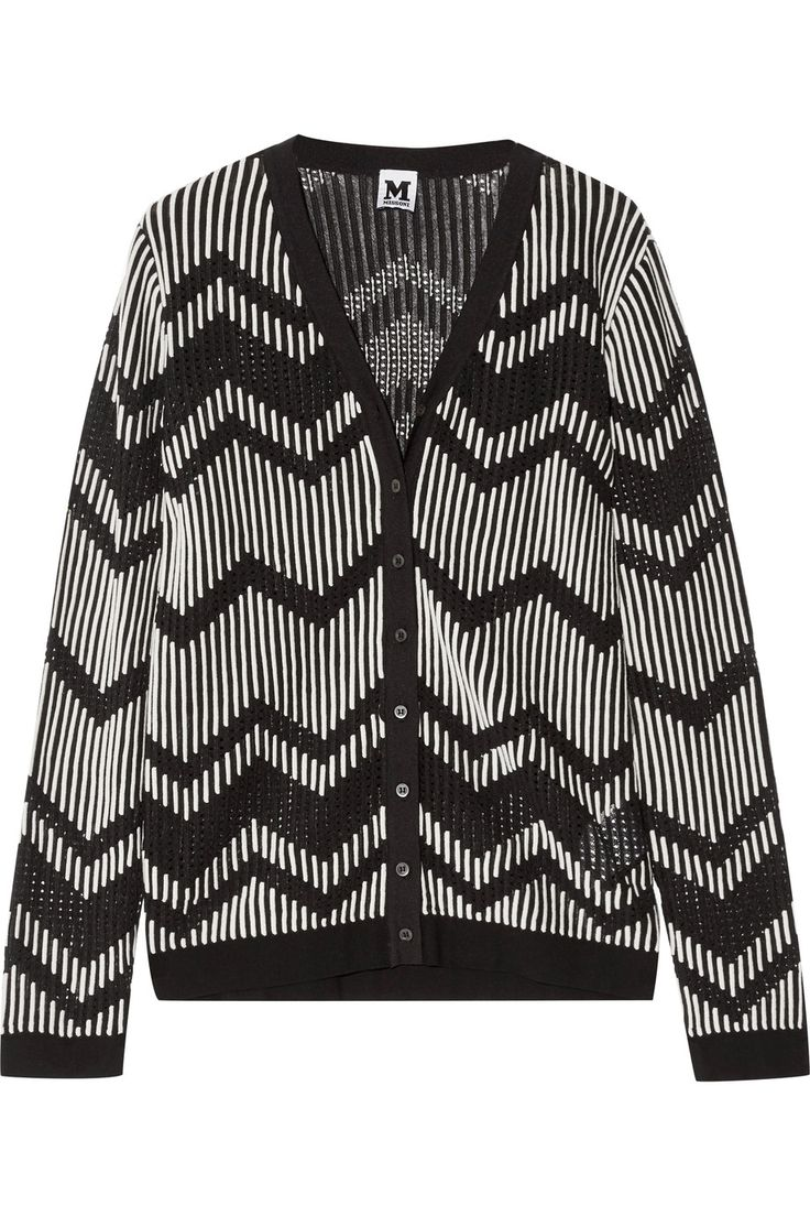 Shop on-sale M Missoni Open and stretch-knit cardigan. Browse other discount designer Knitwear & more on The Most Fashionable Fashion Outlet, THE OUTNET.COM