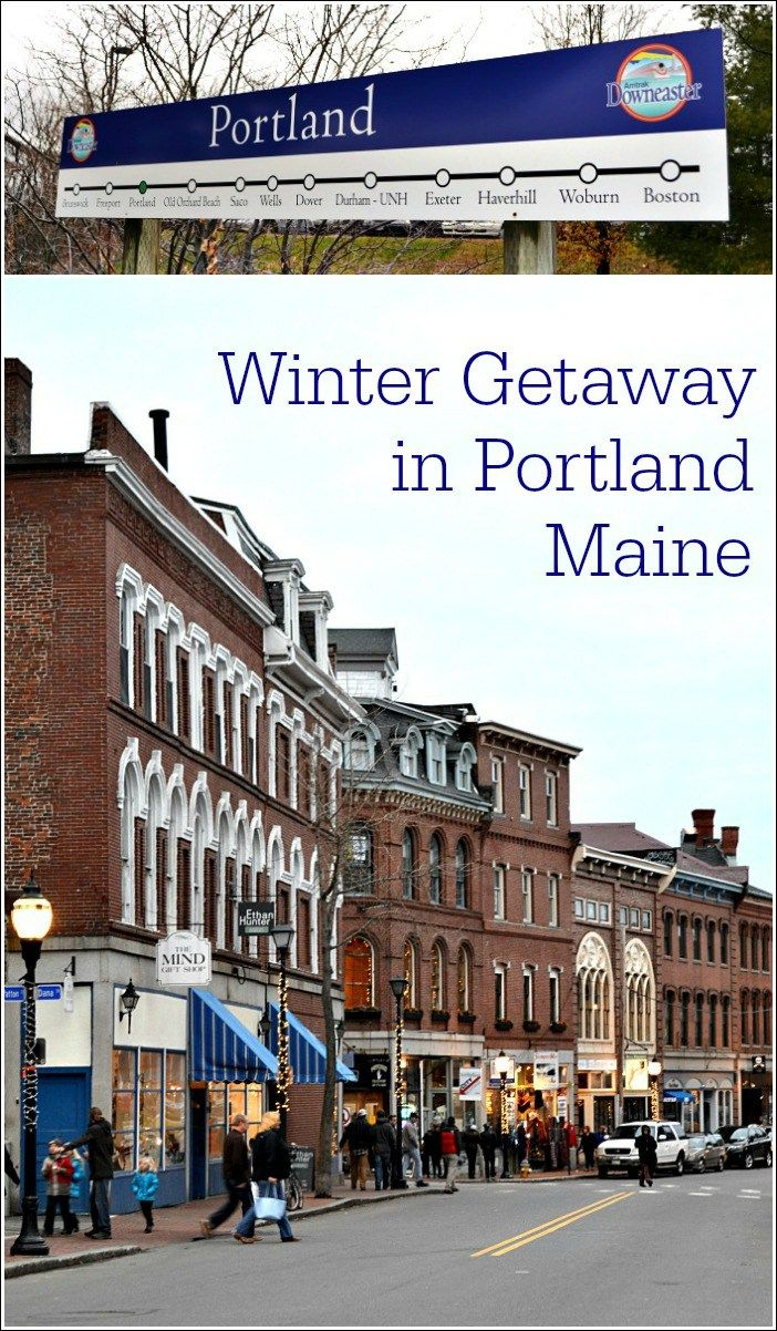 Leave the car at home and enjoy a Portland Maine winter getaway on board the Amtrak Downeaster. Portland is a foodie's dream destination. Enter to win a free trip! #hosted