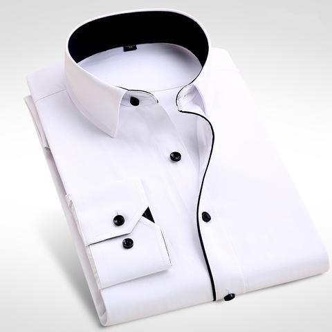 2017 Brand New Men Shirt Male Dress Shirts Men's Fashion Casual Long Sleeve Business Formal Shirt camisa social masculina