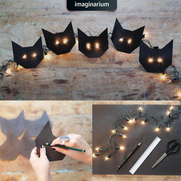 Gato preto traz sorte, sim! E muito charme pra sua casa também. Vem ver como no blog, vem! #amamosmuito #DIY