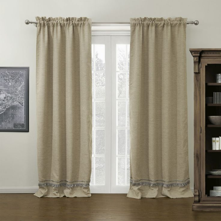 Faux Bamboo Jacquard Fiber Room Darkening Curtain    #curtains #decor #homedecor #homeinterior #beige