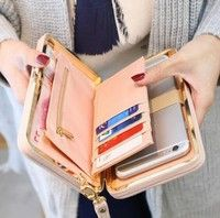 Wish | Women Bowknot Wallet Long Purse Phone Card Holder Clutch Large Capacity Pocket