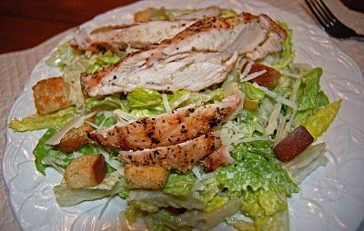 grilled chicken caesar salad from Panera