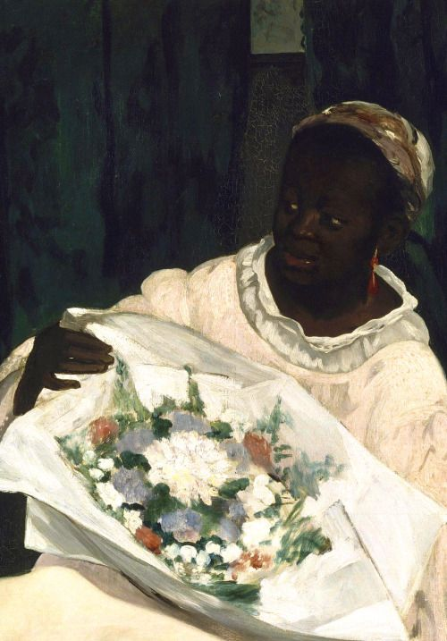 Edouard Manet, (Detail of 'Olympia' painting), 1863