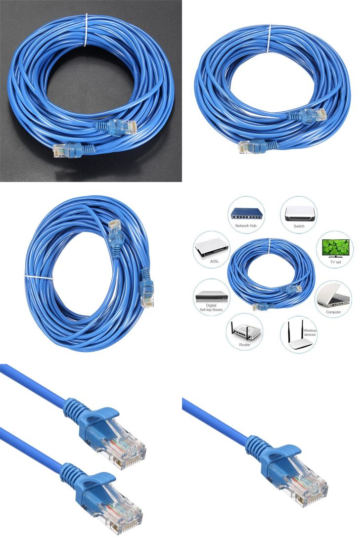 [Visit to Buy] 20M Cat 5 RJ45 Ethernet Cable Male to Male UTP Internet Network LAN Cable Patch Connector Cord Tools For Computer Laptop Blue #Advertisement