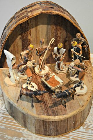 Kenyan Banana Fiber Nativity This is a beautiful nativity from Kenya. Great…