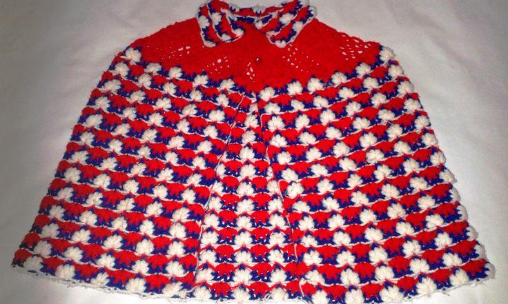 capa de crochê para criança.