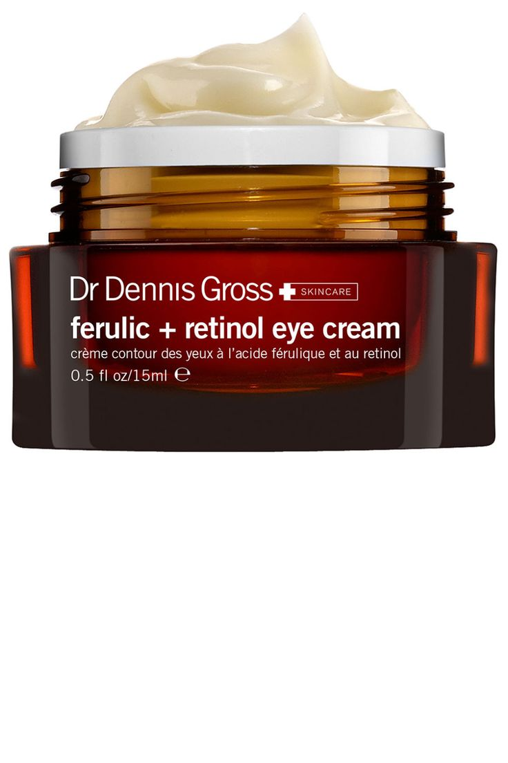 Dr. Dennis Gross Ferulic + Retinol Eye Cream, $68, drdennisgross.com.