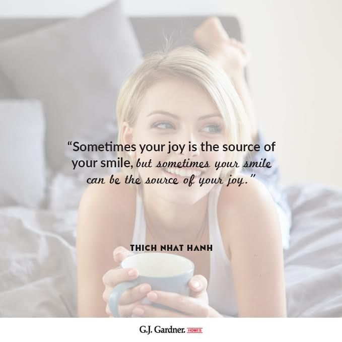 Smiling makes you happy. Try it!