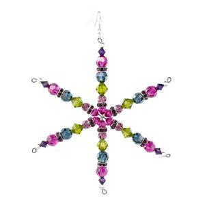 Jewel Snowflake   Fusion Beads Inspiration Gallery #inspirationinbloom