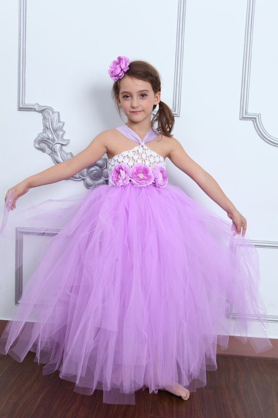 Lavender  girl Tutu Dress  birthday party dress  by cuteflower99, $39.99