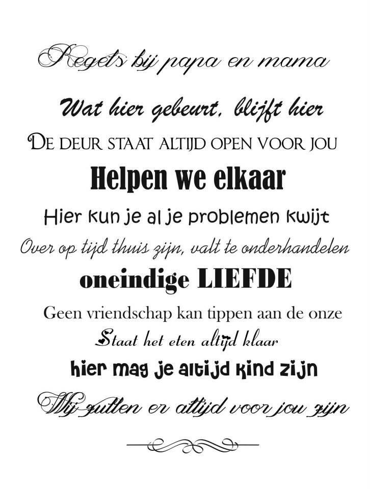 Mooie Keuken Spreuken : Familie tekst – Teksten Pinterest