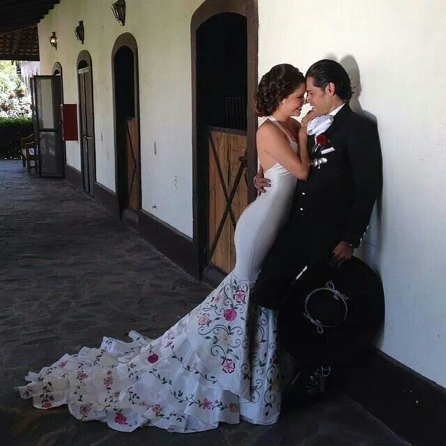 Absolutely love this dress!!! Mexican charro theme wedding