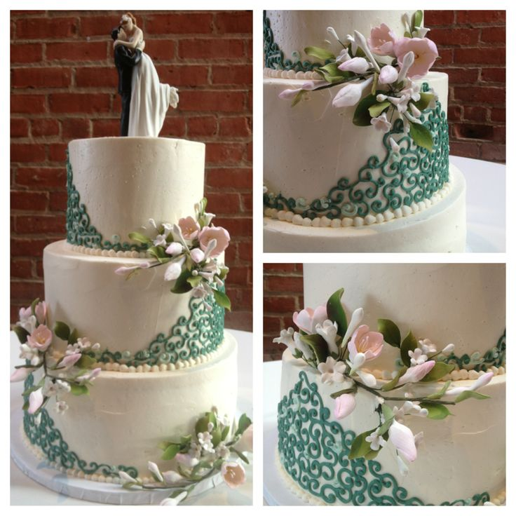 wedding bakeries in sacramento ca%0A Elegant green and pink wedding cake Cake by Sugar and Spice Specialty  Desserts  Sacramento  CA