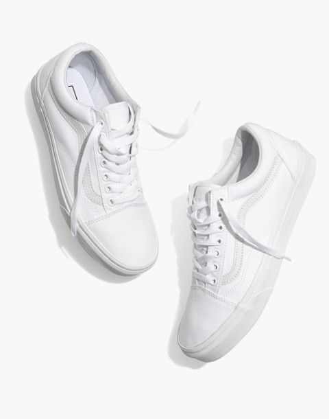 e5f50a5d3c Vans® Unisex Old Skool Lace-Up Sneakers in Canvas and Suede in true white  image 1